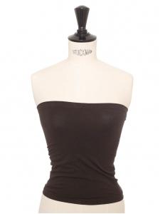 Haut fatal bustier stretch sans couture marron foncé Prix boutique 70€ Taille XS à S