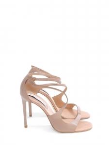 Sandales à talon stiletto et bride cheville en faux cuir eco-friendly nude rosé Prix boutique 660€ Taille 39,5