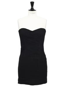 Robe bustier COLIN en lin mélangé noir Prix boutique 320€ Taille 34/36