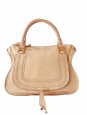 Beige pink python large Marcie shoulder bag Retail price 3000€