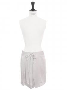 Light lila grey fluid high waist skirt Retail price €290 Size XS