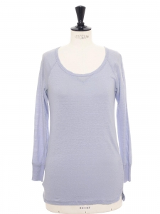 Lavender blue linen long sleeves top Size S / 36