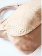 Sac MARCIE large en python beige rosé Px boutique 3000€