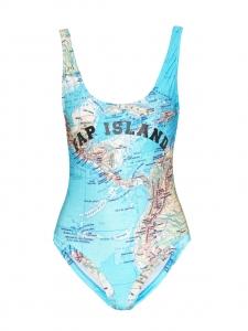 Maillot de bain une-pièce imprimé Bermudes FAP ISLAND Px boutique 175€ Taille 38
