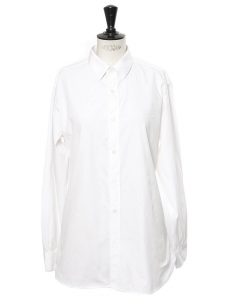 White cotton popeline shirt Retail price €590 Size 36