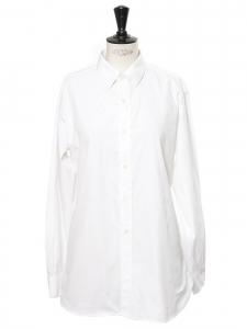 Chemise en popeline de coton blanche Prix boutique 590€ Taille 36