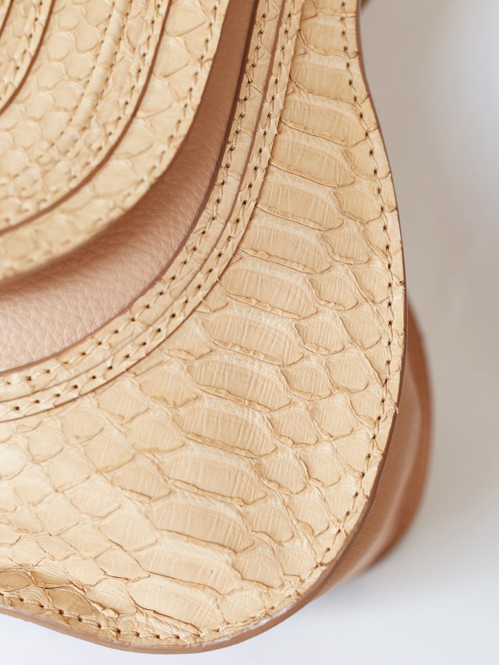 Louise Paris - CHLOE Beige pink python large Marcie shoulder bag ...