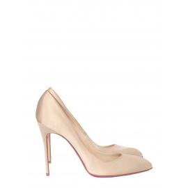 Chiara champagne beige silk satin stiletto heels pumps retail price 425€ Size 41