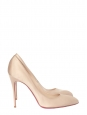 Chiara champagne beige silk satin stiletto heels pumps retail price 425€ Size 41