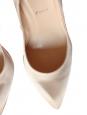 Escarpins stiletto CHIARA 100 en satin de soie beige rosé Px boutique 425€ T.41