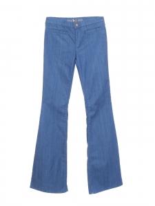 Jean Marrakesh taille haute slim fit évasé en denim stretch bleu vif Prix boutique 240€ Taille 25 (XS)