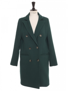 English green double breasted mid-season coat Retail price €370 Size XS