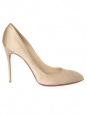 Chiara 100 champagne beige silk satin stiletto heels pumps retail price 425€ Size 41
