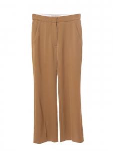 Pantalon droit en crêpe beige camel Prix boutique 550€ Taille 34