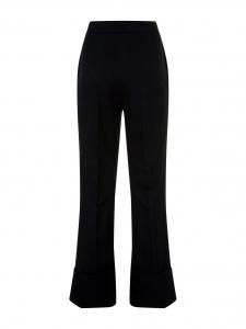 Pantalon Angela taille haute en crêpe de laine noire coupe évasée Prix boutique 525€ Taille 36/38