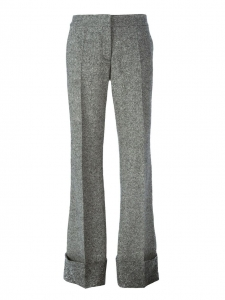 Pantalon à pli évasé JOSH en laine grise Prix boutique 550€ Taille 36