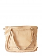 Paraty pink beige python leather shopper tote shoulder bag Retail price 3000€