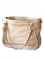 Paraty pink beige python leather shopper tote shoulder bag Retail price 3000€