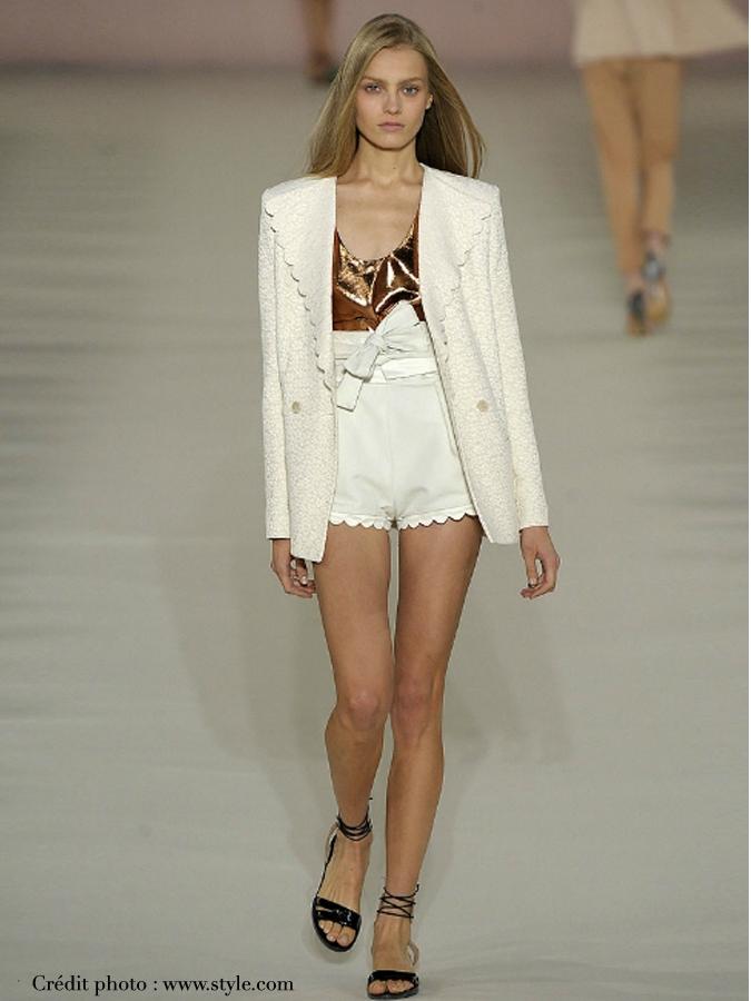 Louise Paris Chloe Rare White Silk Shorts From The