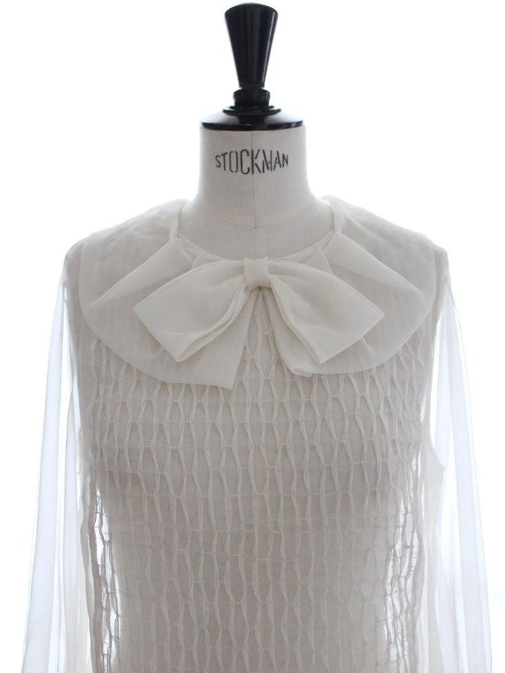 Louise Paris Chloe Rare Haute Couture White Silk Organza