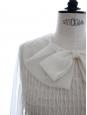 Blouse en organza de soie écru défilé Ete 2007 Px boutique 1500€ Taille M à L