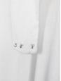 Robe de mariée longue asymétrique en lin blanc et mousseline de soie Taille 34/36