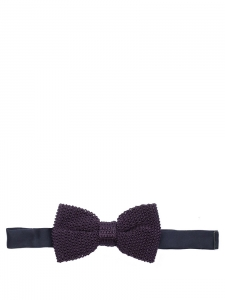 Navy blue silk knitted bow tie NEW