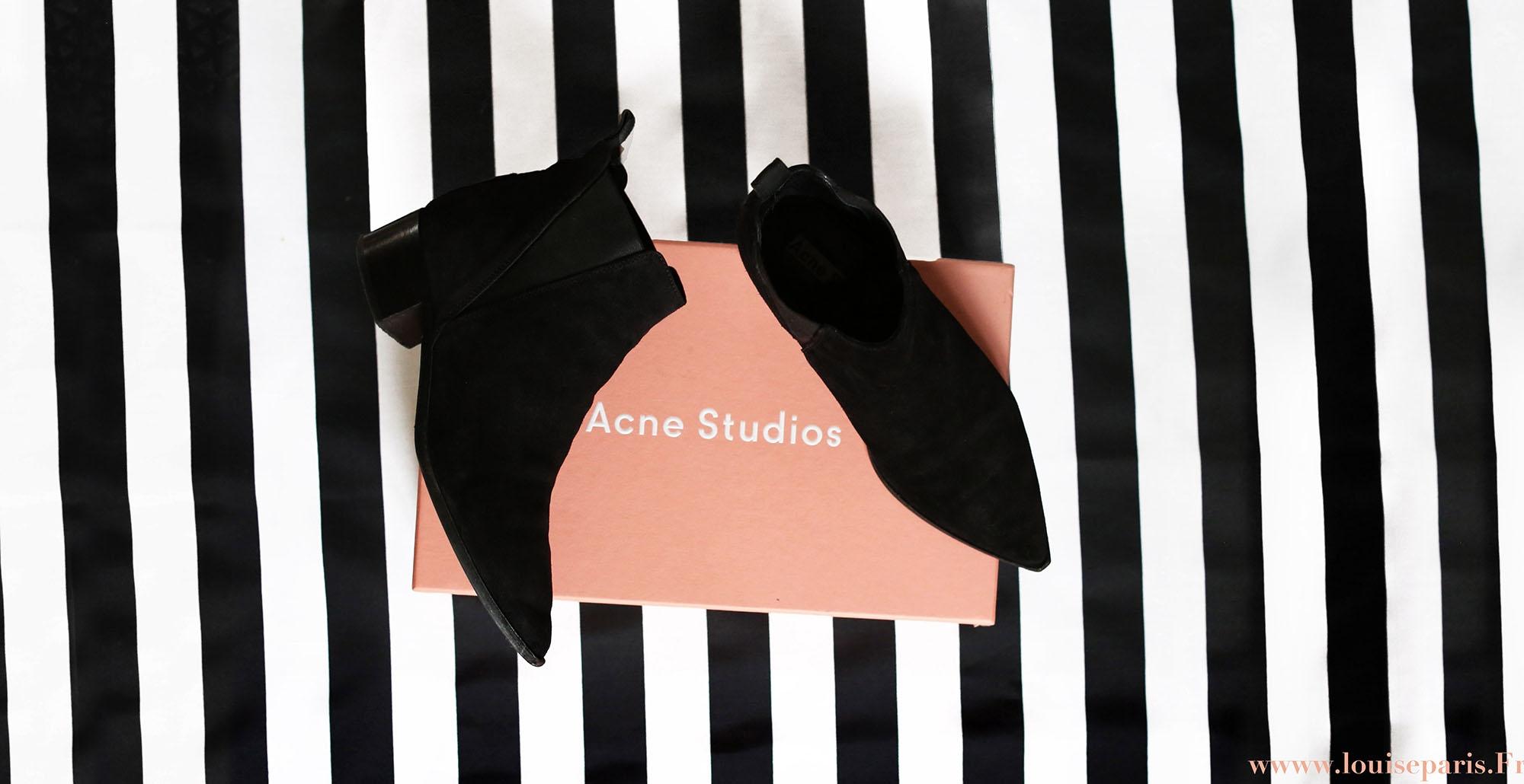 ACNE Bottines Chelsea JENSEN en suède noir Prix boutique 450€ Taille ... 4c3d676a9bc