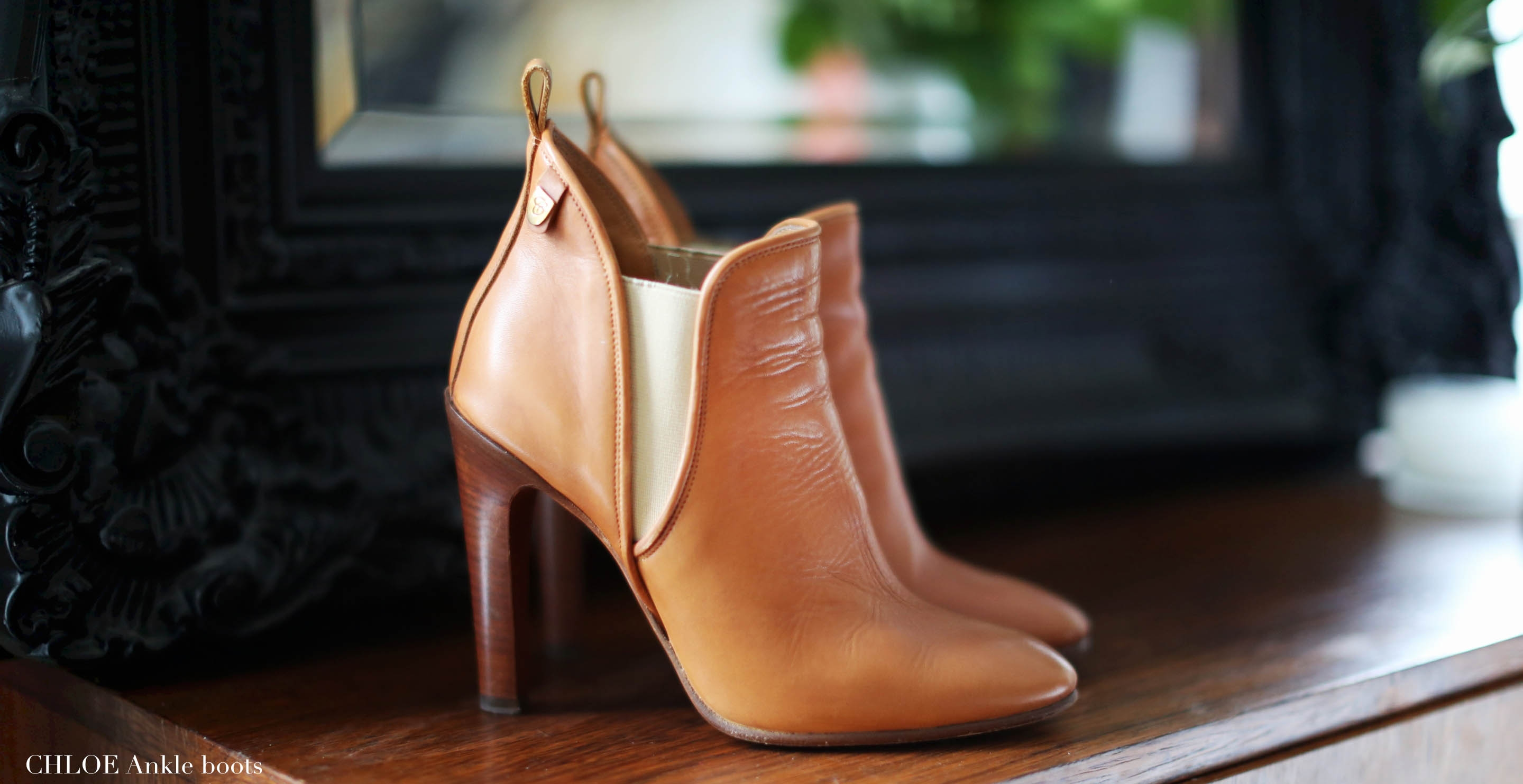 CHLOE Catlyn tan leather heel ankle boots Retail price 640€ Size 36.5