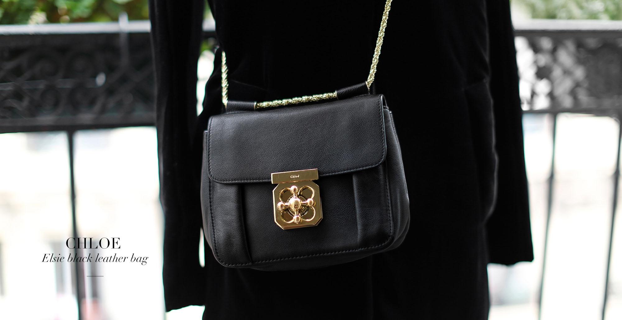 402d2514241 CHLOE Small black leather ELSIE cross body bag NEW Retail price 1110€