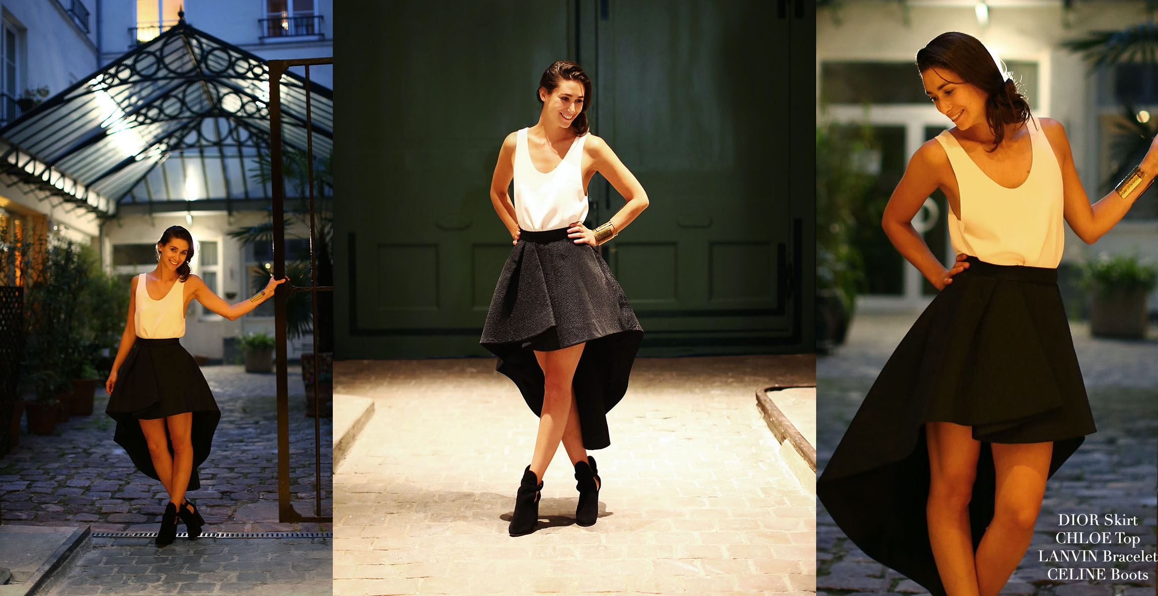 CHRISTIAN DIOR Black wool and silk asymmetric Couture high waist skirt FW2013 NEW Retail price €2500 Size 34